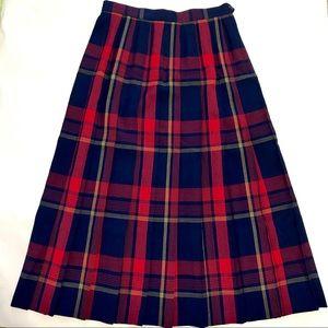 Vintage Pendleton 100% virgin wool plaid skirt sz8